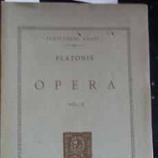 Libros de segunda mano: OPERA. VOL. II. - PLATONIS.. Lote 173734924