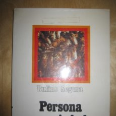 Libros de segunda mano: PERSONA Y SOCIEDAD. RUFINO SEGURA 1976. Lote 174968099