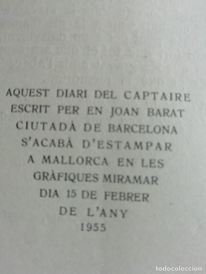 Libros de segunda mano: DIARI DEL CAPTAIRE DE JOAN BARAT ANY 1955 - Foto 2 - 175331593