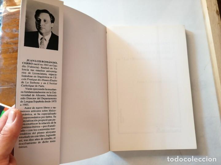Libros de segunda mano: EL DESCIFRAMIENTO DE LA LENGUA IBÉRICA EN LA OFRENDA DE LOS PUEBLOS.JUAN L. ROMÁN DEL CERRO. - Foto 2 - 175460570