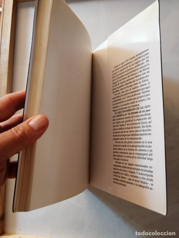 Libros de segunda mano: EL DESCIFRAMIENTO DE LA LENGUA IBÉRICA EN LA OFRENDA DE LOS PUEBLOS.JUAN L. ROMÁN DEL CERRO. - Foto 4 - 175460570