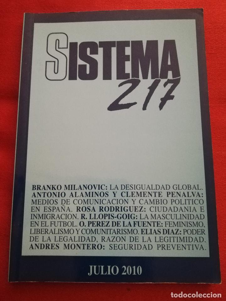 SISTEMA. REVISTA DE CIENCIAS SOCIALES (JULIO DE 2010 - Nº 217) (Libros de Segunda Mano - Pensamiento - Sociología)