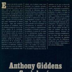Libros de segunda mano: SOCIOLOGÍA / ANTHONY GIDDENS. Lote 178192737
