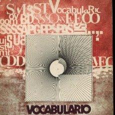 Libros de segunda mano: VOCABULARIO DE SOCIOLOGÍA. Lote 179139705