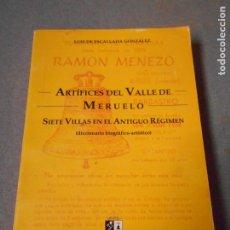 Libros de segunda mano: ARTIFICES DEL VALLE DE MERUELO. Lote 179314295