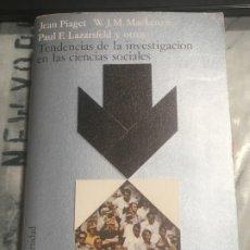 Libros de segunda mano: TENDENCIAS DE LA INVESTIGACIÓN EN LAS CIENCIAS SOCIALES ALIANZA UNIVERSIDAD 5ª EDICIÓN 1982. Lote 180210982