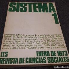 Libros de segunda mano: SISTEMA Nº 1 ITS REVISTA DE CIENCIAS SOCIALES, ENERO 1973 VV. AA.. Lote 181129271
