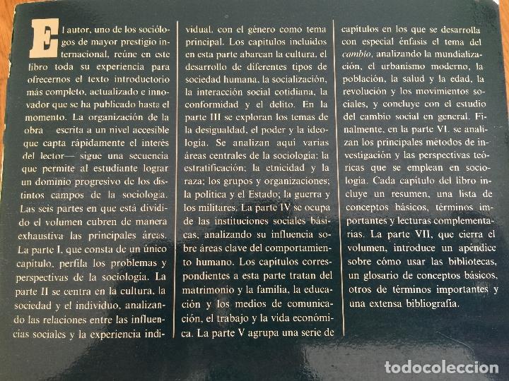 Libros de segunda mano: SOCIOLOGIA - ANTHONY GIDDENS - ALIANZA UNIVERSIDAD TEXTOS - Foto 2 - 181323557