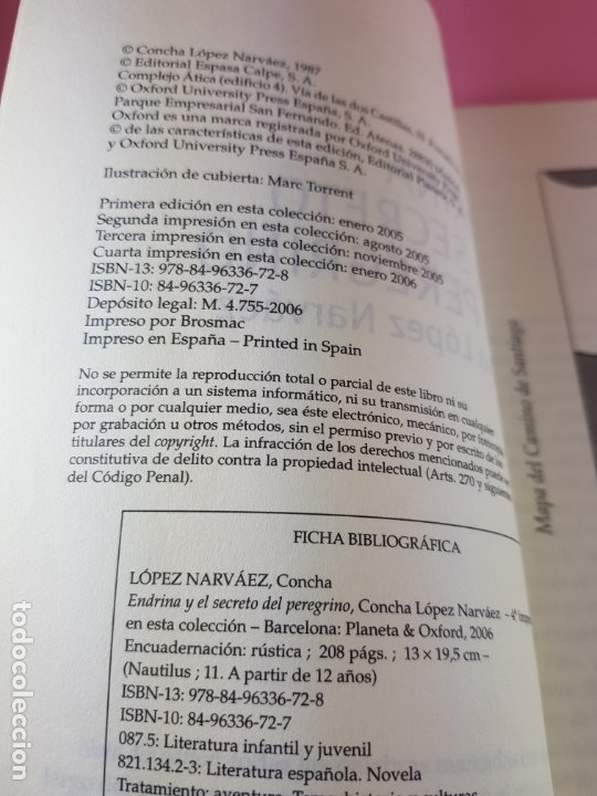 Libros de segunda mano: LIBRO-ENDRINA Y EL SECRETO DEL PERGRINO-CONCHA BLANCO NARVÁEZ-NAUTILUS-2006-PLANETA OXFORD - Foto 5 - 181573131