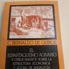 Libros de segunda mano: EL ESPARQUISMO AGRARIO ENSAYOS ESTRUCTURALES ECONOMÍA ANDALUZA JOSÉ LUIS GARCIA DELGADO DESCATALO. Lote 181601342