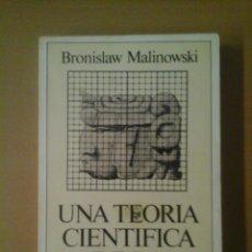 Libros de segunda mano: UNA TEORÍA CIENTÍFICA DE LA CULTURA. Lote 181950862