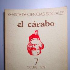Libros de segunda mano: EL CÁRABO REVISTA DE CIENCIAS SOCIALES ENVÍO CERTIFICADO 5,99. Lote 182132490