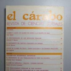 Libros de segunda mano: EL CÁRABO REVISTA DE CIENCIAS SOCIALES ENVÍO CERTIFICADO 5,99. Lote 182132591
