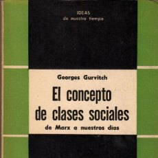 Libros de segunda mano: EL CONCEPTO DE CLASES SOCIALES / GEORGES GURVITCH. Lote 182839001