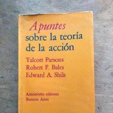 Libros de segunda mano: APUNTES SOBRE LA TEORÍA DE LA ACCIÓN. T. PARSONS, R. F. BALES, E. A. SHILS.. Lote 183267537