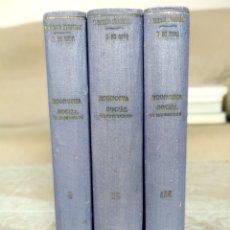 Libros de segunda mano: ECONOMIA SOCIAL DE MARRUECOS - TOMOS I, II, III - INSTITUTO DE ESTUDIOS AFRICANOS CSIC (1950 - 1955). Lote 183582790