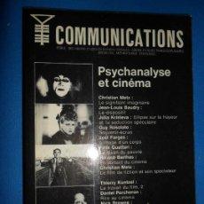 Libros de segunda mano: PSYCHANALYSE ET CINEMA, COMMUNICATIONS NÚMERO 23, 1975, ED. DU SEUIL. Lote 183820390