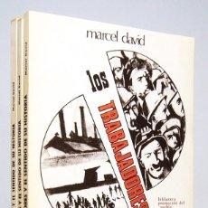 Libros de segunda mano: LOS TRABAJADORES Y EL SENTIDO DE SU HISTORIA (1968, 3 VOLÚMENES.), DE MARCEL DAVID, EDITORIAL ZYX.. Lote 184578350