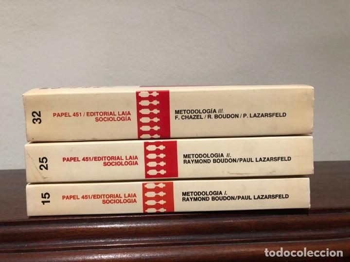Libros de segunda mano: Metodologia de las Ciencias Sociales. R. Boudon, P. Lzarsfeld. 3 tomos Editorial Laia. Nuevos - Foto 2 - 188595126