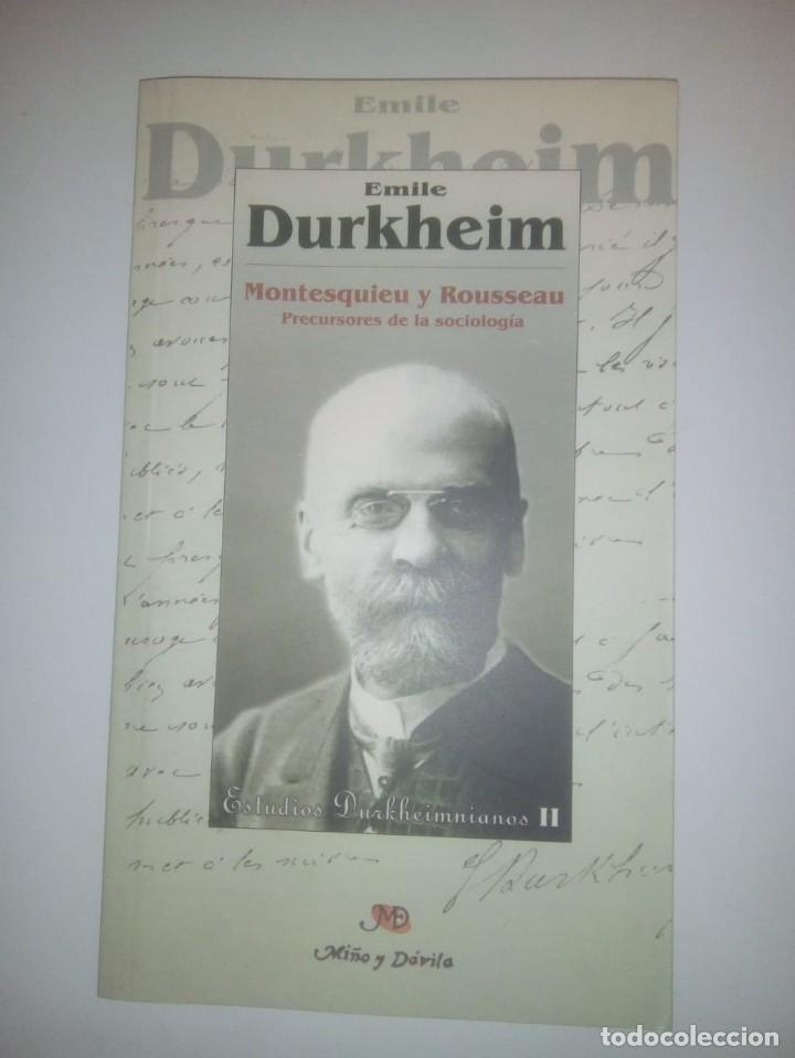 MONTESQUIEU Y ROUSSEAU: PRECURSORES DE LA SOCIOLOGÍA- EMILE DURKHEIM (Libros de Segunda Mano - Pensamiento - Sociología)