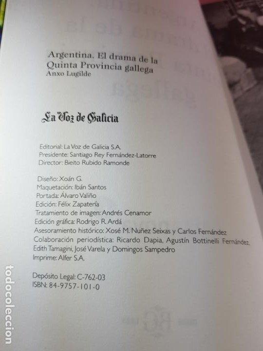 Libros de segunda mano: Libro-El drama de la quinta provincia gallega-Anxo Lugilde-La Voz de Galicia-Excelente estado-Ver fo - Foto 23 - 188644253
