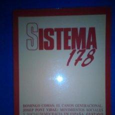 Libros de segunda mano: SISTEMA Nº 178. ENERO 2004. REVISTA DE CIENCIAS SOCIALES.. Lote 191128855