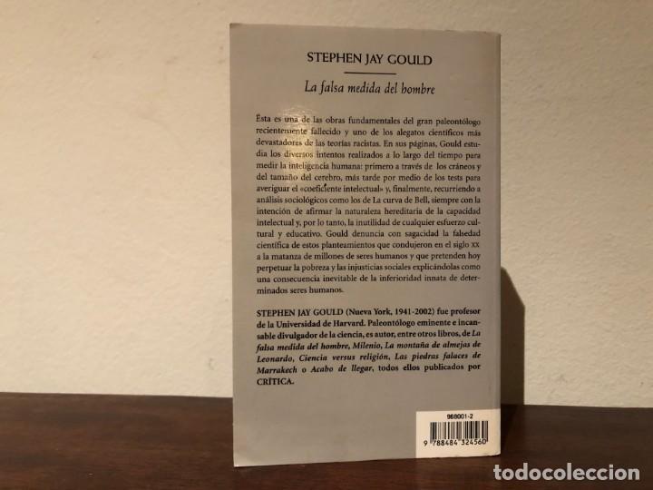 Libros de segunda mano: La falsa medida del hombre. Stephen Jay Gould. Crítica. Alegato científico contra el racismo. - Foto 2 - 191999046
