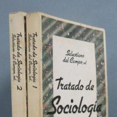 Livres d'occasion: TRATADO DE SOCIOLOGIA. SALUSTIANO DEL CAMPO. 2 TOMOS. Lote 192180583