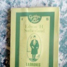Libros de segunda mano: LADRONES PROFESIONALES. EDWIN H. SUTHERLAND. Lote 193583483