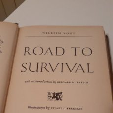 Libros de segunda mano: LIBRO ROAD TO SURVIVAL DE WILLIAM VOGT 1948. Lote 193722253