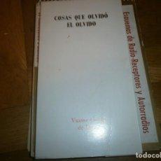 Libros de segunda mano: COSAS QUE OLVIDÓ EL ELVIDO - POESÍA - VICENTE GARCÍA DE DIEGO 1975 - 21,5X12 CM. 66 PG. . Lote 194262671