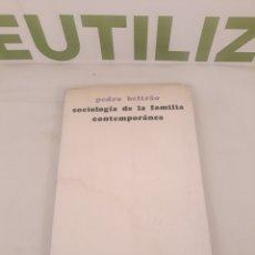 Libros de segunda mano: EL TRABAJO SOCIOLOGÍA DE LA FAMILIA CONTEMPORÁNEA EDICIONES, SÍGUEME. Lote 194388075