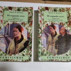 Libros de segunda mano: EL SEGUNDO SEXO VOL. I Y II SIMONE DE BEAUVOIR. Lote 194584006