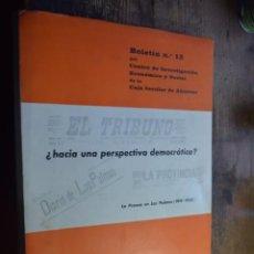 Libros de segunda mano: HACIA UNA PERSPECTIVA DEMOCRATICA, LA PRENSA EN LAS PALMAS 1919-1920, DICIEMBRE 1971. Lote 194916580