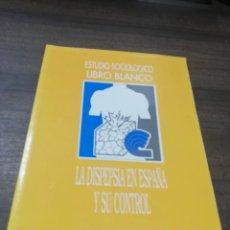 Libros de segunda mano: ESTUDIO SOCIOLOGICO. LIBRO BLANCO. LA DISPEPCIA EN ESPAÑA Y SU CONTROL. ALMIRALL. 1995.. Lote 195264628