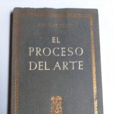 Libros de segunda mano: EL PROCESO DEL ARTE STANISLAS FUMET 1946 . ... PENSAMIENTO ARTE. Lote 195492210