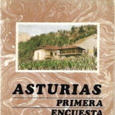 Libros de segunda mano: ASTURIAS. PRIMERA ENCUESTA REGIONAL. SADEI. Lote 196304748