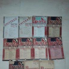 Libros de segunda mano: LOTE DE 11 TÍTULOS DE LA REVISTA UNIVERSO. SOCIOLOGÍA, CIENCIA. ARTE. SOCIOLOGIE, SCIENCE. ART.. Lote 197755692
