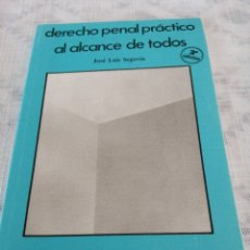 Libros de segunda mano: DERECHO PENAL PRÁCTICO AL ALCANCE DE TODOS. Lote 197977753