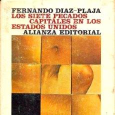 Libros de segunda mano: LOS SIETE PECADOS CAPITALES EN ESTADOS UNIDOS - FERNANDO DIAZ-PLAJA. Lote 58651913