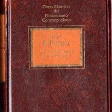 Libros de segunda mano: LA SOCIEDAD ABIERTA Y SUS ENEMIGOS I (KARL. R. POPPER) . Lote 201979281