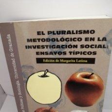 Libros de segunda mano: EL PLURALISMO METODOLÓGICO EN LA INVESTIGACIÓN SOCIAL. Lote 206193285