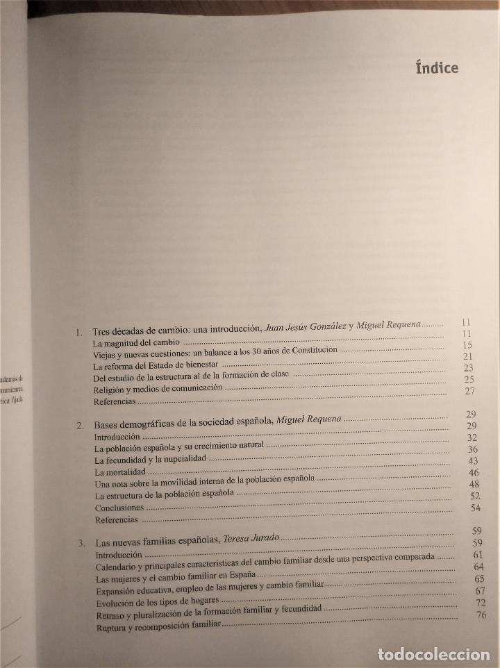 Libros de segunda mano: Tres décadas de cambio social en España, González/Requena (eds.), 2008 - Foto 3 - 207038962