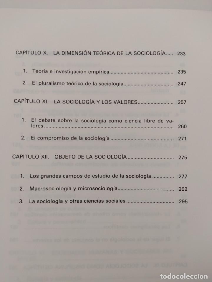 Libros de segunda mano: LA EXPLICACIÓN SOCIOLÓGICA: UNA INTRODUCCIÓN A LA SOCIOLOGÍA. JOSÉ F. TEZAMOS TORTAJADA. 1987. - Foto 11 - 207051368