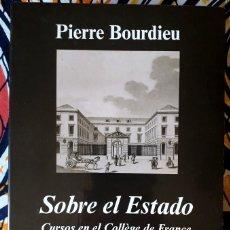Libros de segunda mano: PIERRE BOURDIEU . SOBRE EL ESTADO. CURSOS EN EL COLLÈGE DE FRANCIA (1989-1992) . ANAGRAMA. Lote 207334575