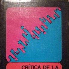 Libros de segunda mano: W. G. RUNCIMAN - CRÍTICA DE LA FILOSOFÍA DE LAS CIENCIAS SOCIALES DE MAX WEBER. Lote 207372680