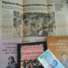 Libros de segunda mano: 2 LIBROS- EL CLAMOR DE LA TIERRA, ME LLAMO RIGOBERTA MENCHU, NUMERO ONCE...Y MAS. Lote 208138836