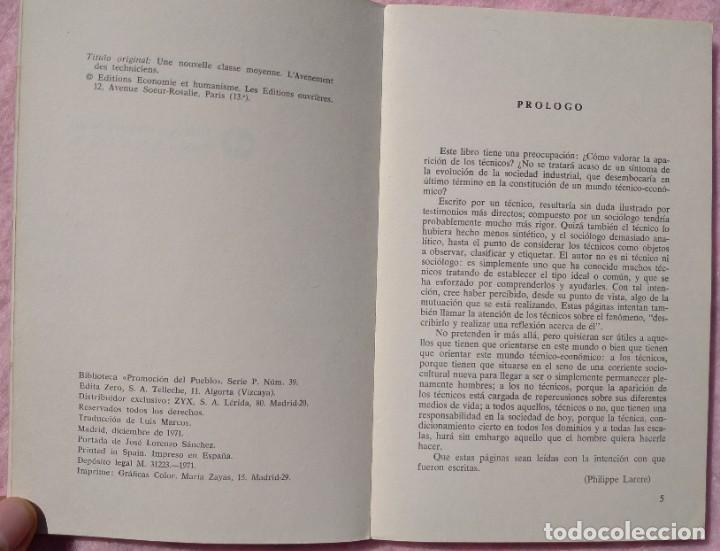 Libros de segunda mano: Los Técnicos: La Nueva Clase Media – Philippe Larere (Zero, 1971) /// TRABAJO LABORAL PROFESIONES - Foto 4 - 208812141