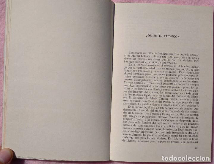 Libros de segunda mano: Los Técnicos: La Nueva Clase Media – Philippe Larere (Zero, 1971) /// TRABAJO LABORAL PROFESIONES - Foto 7 - 208812141