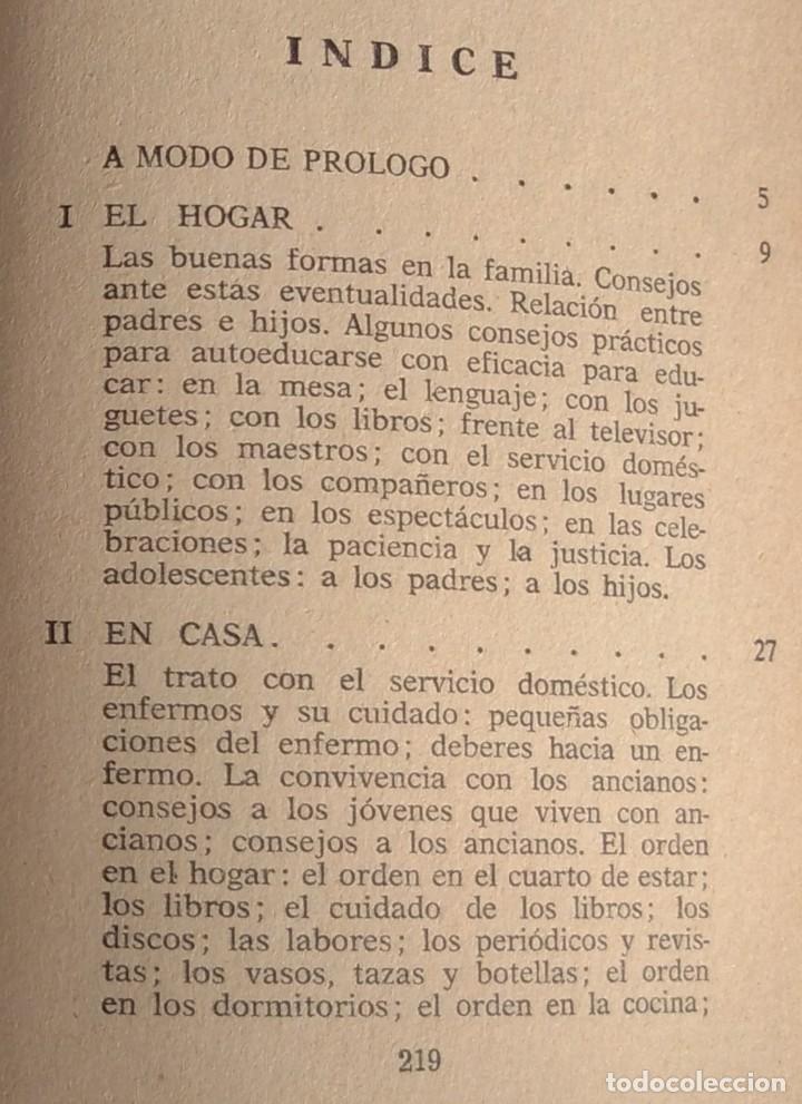 Libros de segunda mano: Normas Sociales – Sara Masó (Bruguera, 1970) /// EDUCACIÓN BUENAS MANERAS HOGAR AMA DE CASA DECORO - Foto 3 - 208813435